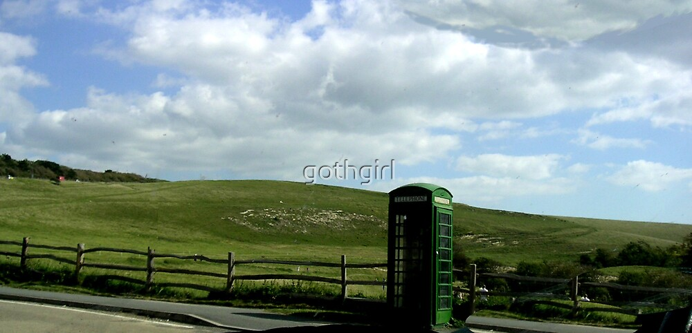 Green Phone Box by gothgirl