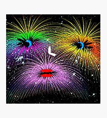 Facetious Fireworks Photographic Print