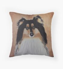 Rough Collie Throw Pillow