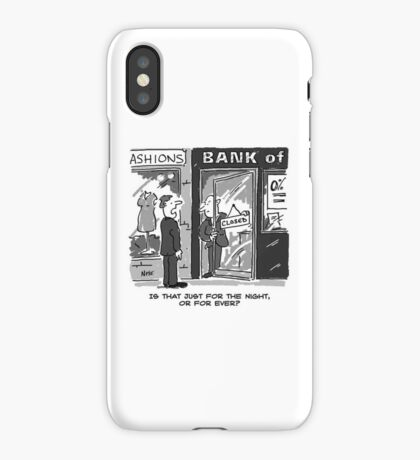 Bank Closing for the Night - or is it For Ever? iPhone Case