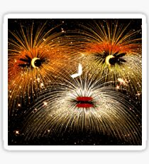 Facetious Fireworks Gold Sticker