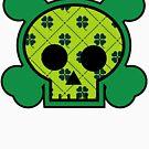 Plaid Clover Skull by Josh Burt
