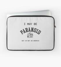 Paranoid Android - Radiohead - Black version Laptop Sleeve