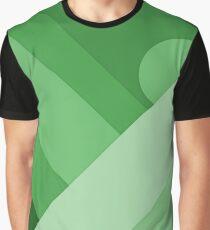 Green modern material design background Graphic T-Shirt