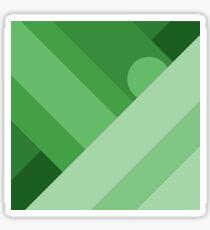 Green modern material design background Sticker