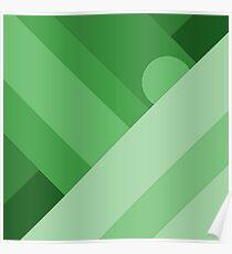 Green modern material design background Poster
