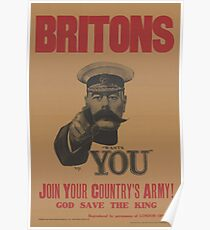 WW1 Recruitment Poster - I Want You! Poster
