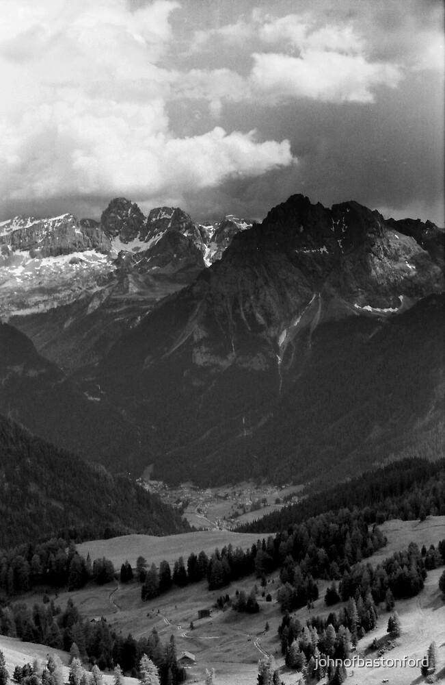 Dolomite Mountains, Northern Italy by johnofbastonford