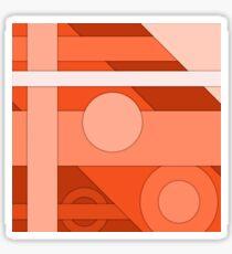 Orange modern material design background Sticker