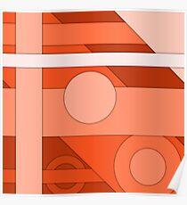 Orange modern material design background Poster