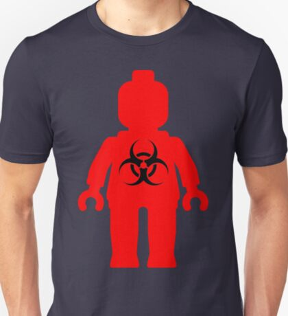 Minifig with Radioactive Symbol T-Shirt