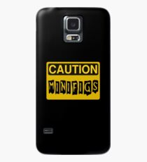 Caution Minifigs Sign Case/Skin for Samsung Galaxy