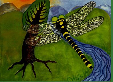 dragonfly--illustration from 'The Midnight Gathering' by Amanda Suutari