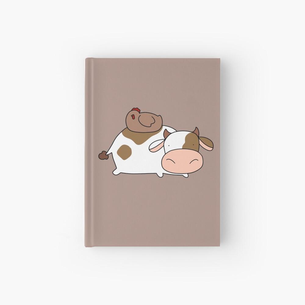 Brown Huhn und Kuh Notizbuch