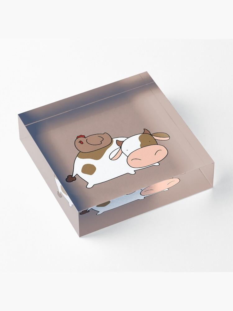 Alternative Ansicht von Brown Huhn und Kuh Acrylblock