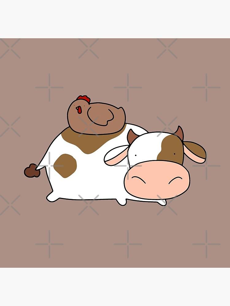 Brown Huhn und Kuh von SaradaBoru