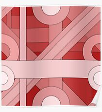 Red modern material design background Poster
