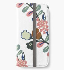 Sprig (white, large scale) iPhone Wallet/Case/Skin