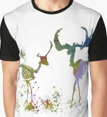 Deer Skeletons Graphic T-Shirt