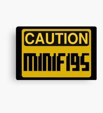 Caution Minifigs Sign Canvas Print