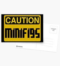 Caution Minifigs Sign Postcards