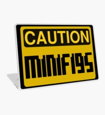 Caution Minifigs Sign Laptop Skin