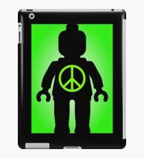 Black Minifig with Peace Symbol, Customize My Minifig iPad Case/Skin