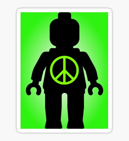 Black Minifig with Peace Symbol, Customize My Minifig Sticker