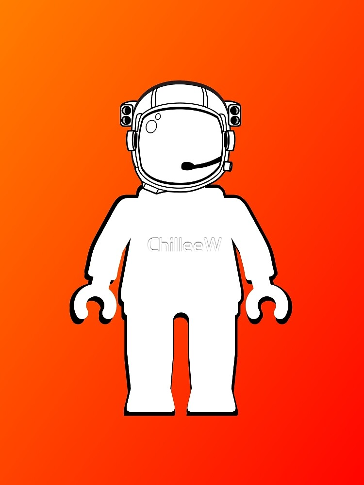 Banksy Style Astronaut Minifig, Customize My Minifig by Customize My Minifig