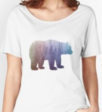 Misty Forest Bear - colorful rainbow Women's Relaxed Fit T-Shirt
