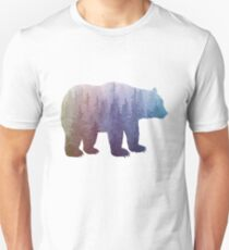 Misty Forest Bear - colorful rainbow Unisex T-Shirt