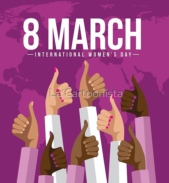International Womens Day multicultural thumbs up design. by Michele Paccione