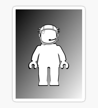 Banksy Style Astronaut Minifig, Customize My Minifig Sticker