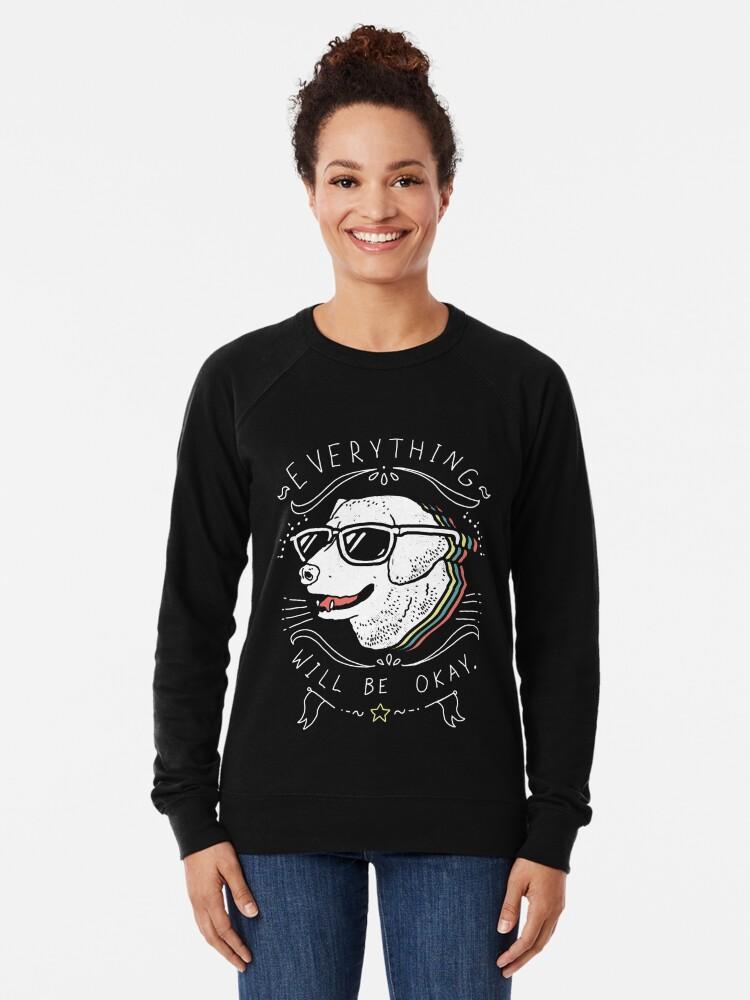 Alternate view of Dog Shirt Lightweight Sweatshirt