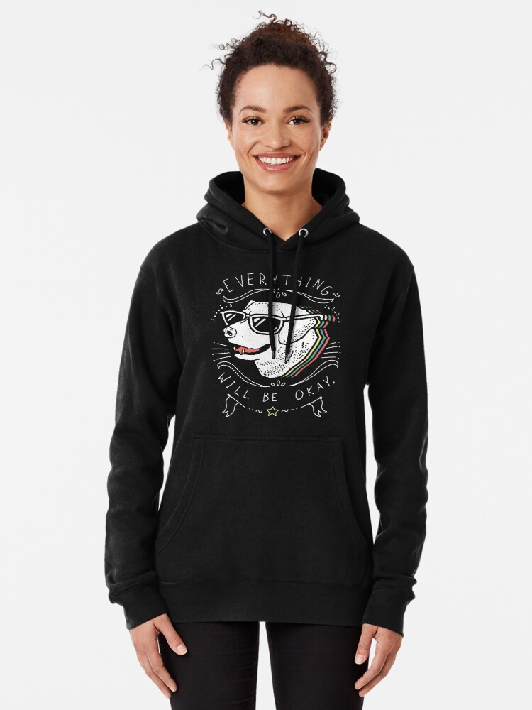 Alternate view of Dog Shirt Pullover Hoodie