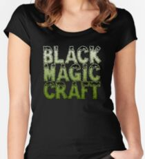 Black Magic Craft Logo Women's Fitted Scoop T-Shirt