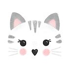 Cute Little Kitty Face by noondaydesign