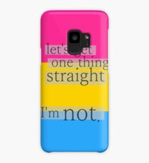 Let's get one thing straight, I'm not - Pansexual flag Case/Skin for Samsung Galaxy