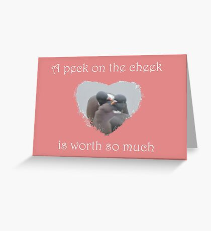 Peck On The Cheek Greeting Card