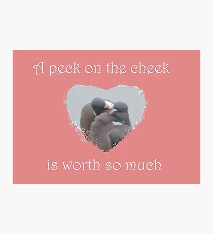 Peck On The Cheek Photographic Print