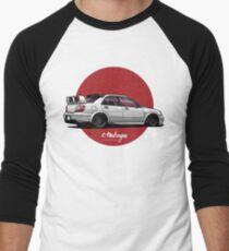 Impreza STI (white) Men's Baseball ¾ T-Shirt