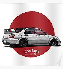 Subaru Impreza (white) Poster