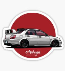 Impreza STI (white) Sticker