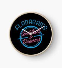 Flanagans Cocktails und Träume Uhr