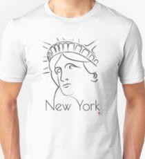 Camiseta unisex Nueva York y el arte de la Estatua de la Libertad