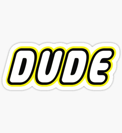 DUDE, Customize My Minifig Sticker