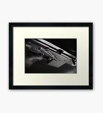 finger on trigger machine gun Framed Print