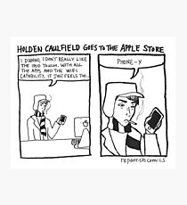 Holden Caulfield Goes To The Apple Store Photographic Print