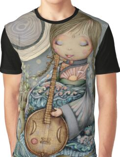 Moon Guitar Graphic T-Shirt