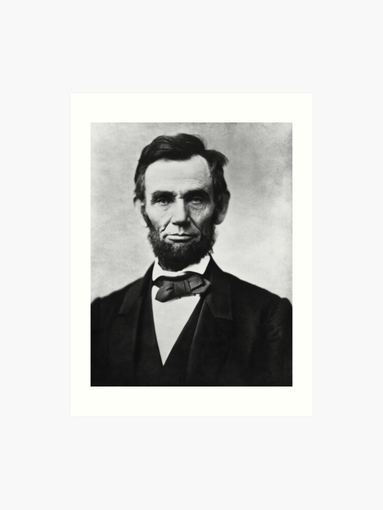 graphic about Printable Pictures of Abraham Lincoln called President Abraham Lincoln Artwork Print